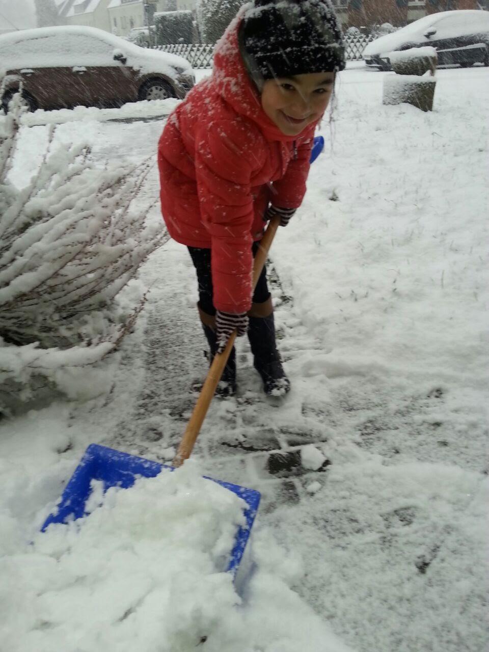 Verschnaufpause für die Schneeschipper
