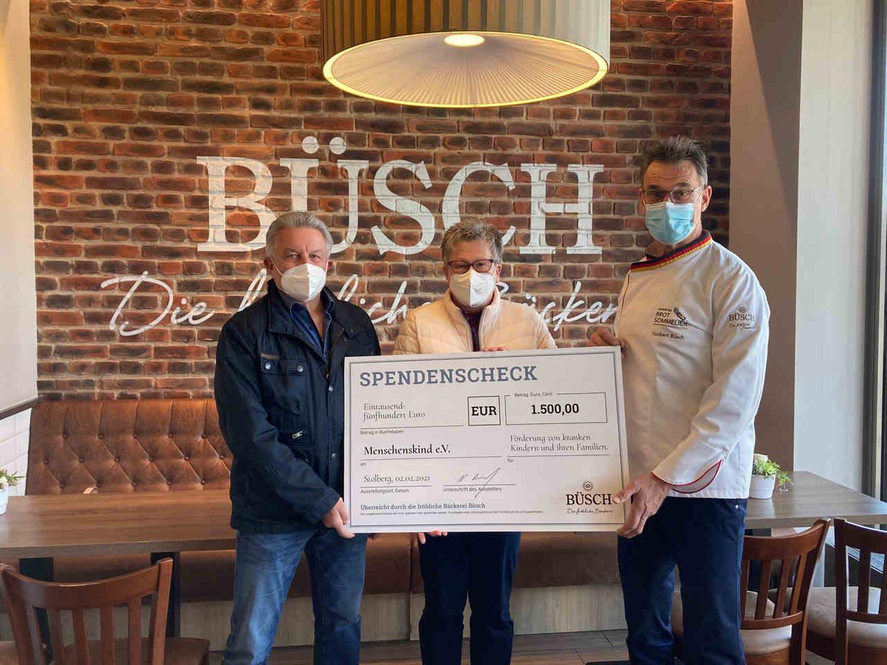"""Büsch Spendenbrot-Aktion unterstützt """"Menschenskind"""""""