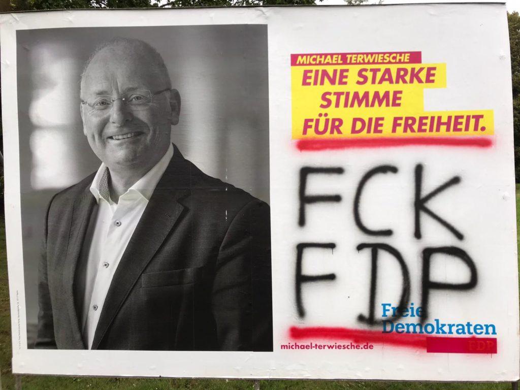 Kreis-FDP erschüttert über Zerstörungswut