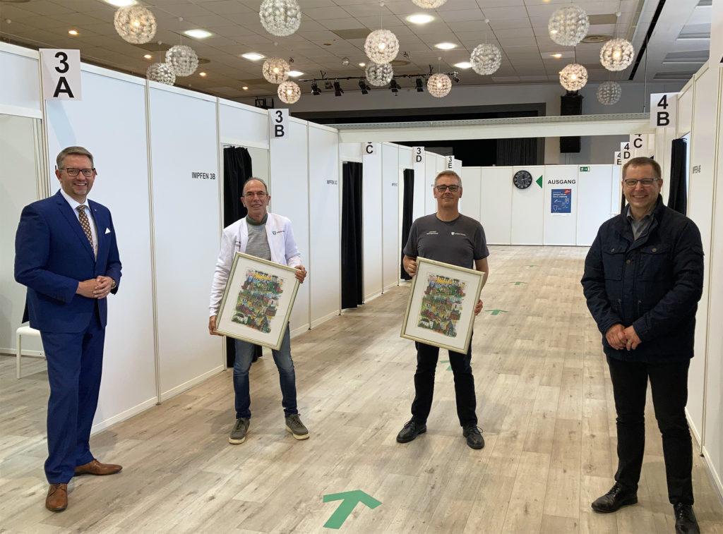 Schließung Impfzentrum Wesel und Impfstandort Moers: Landrat und Krisenstabsleiter danken Standortleitungen und Mitarbeitenden